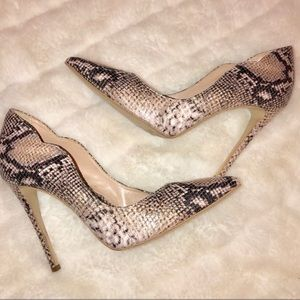 Shoes - Sante Snakeskin Heels
